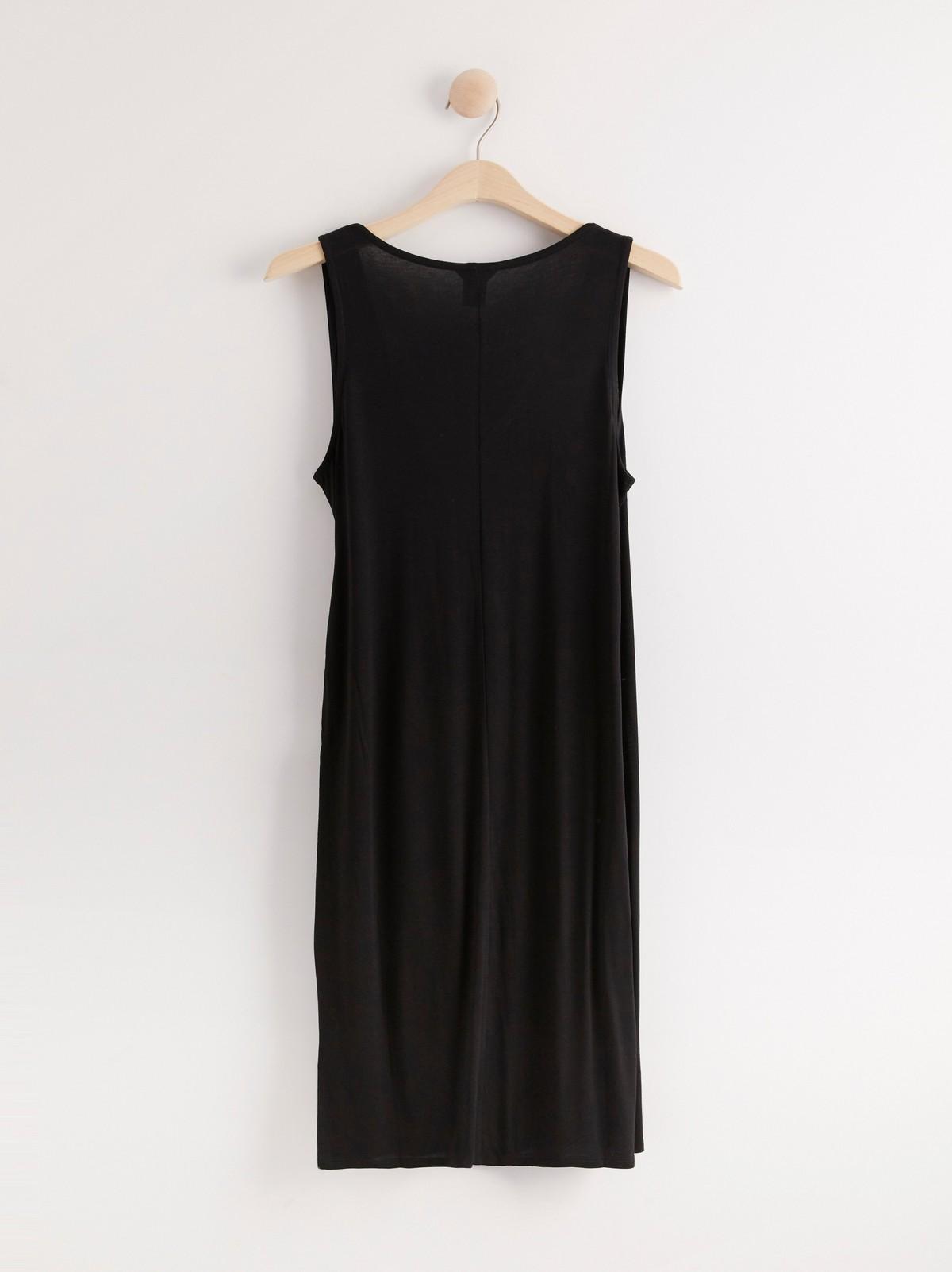 Hihaton musta mekko lyocell sekoitetta   Lindex