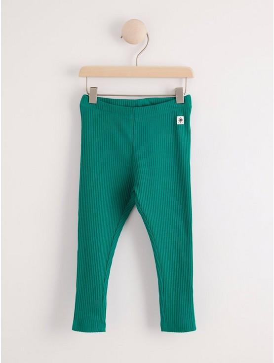 Ribbstickade leggings