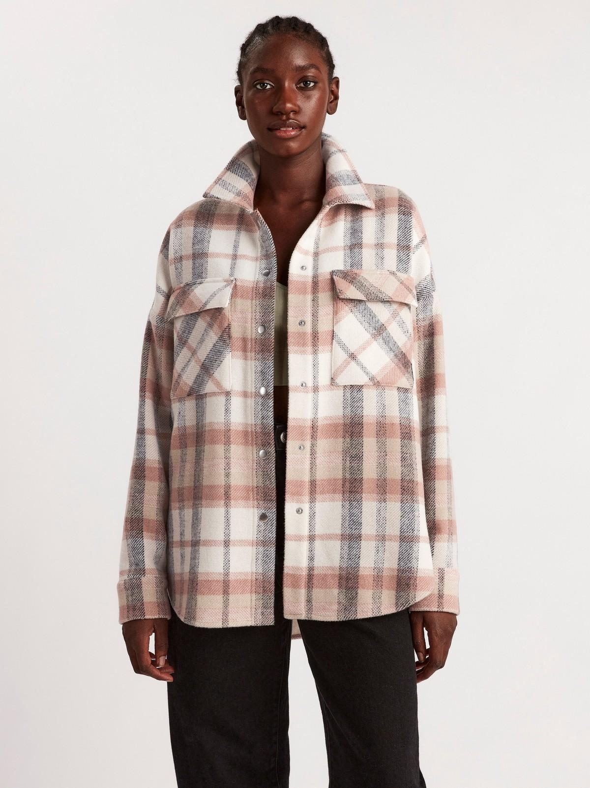 Rutig skjortjacka | Lindex