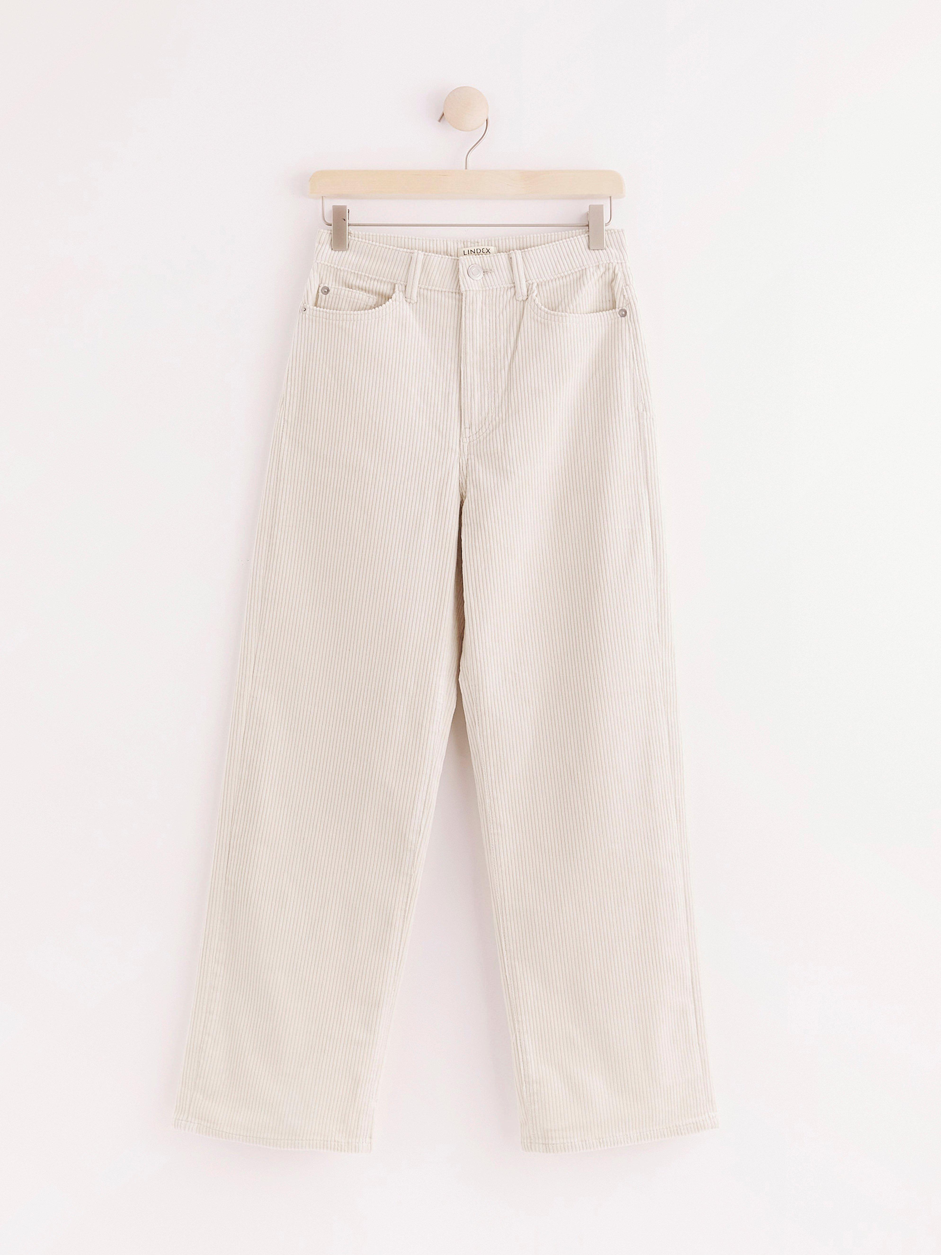 32\u201d Waist Superwide Red Linen High Waist Trousers