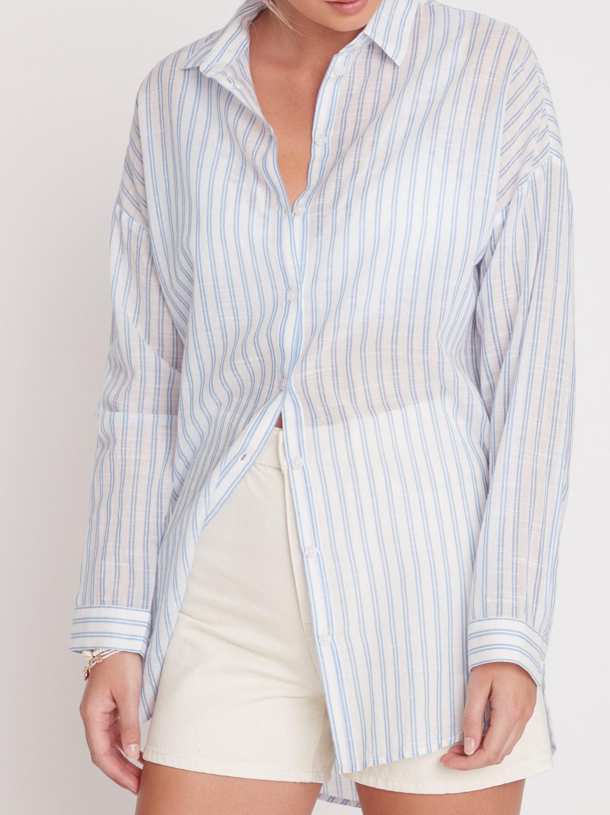 Stripete skjorte med volanger | Lindex