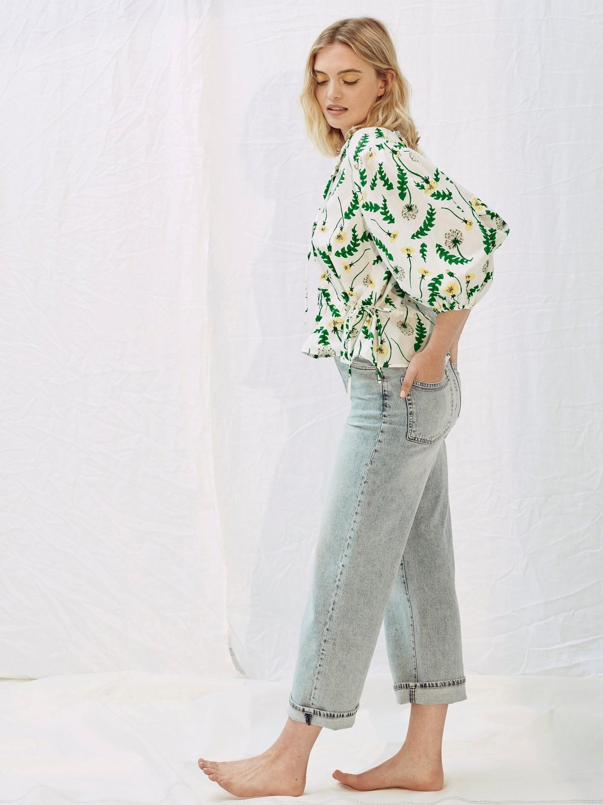 Klänning med puffärm Ängsull Lindex x Joy Zandén | Lindex
