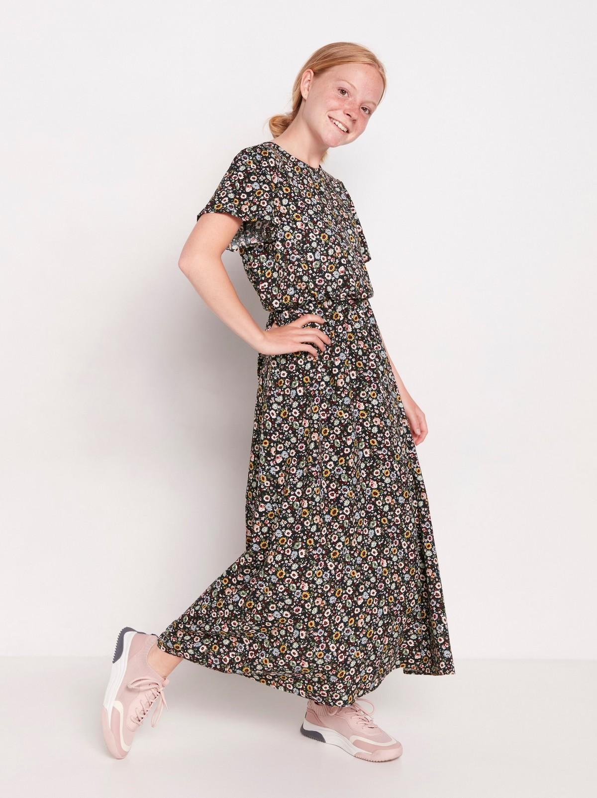 Blommig maxiklänning | Lindex