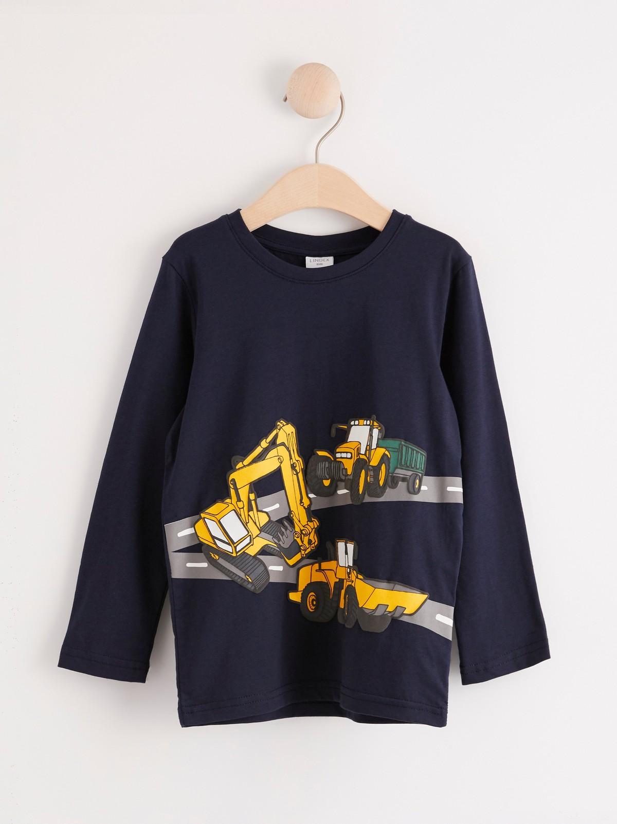 Långärmad tröja med fordonmotiv