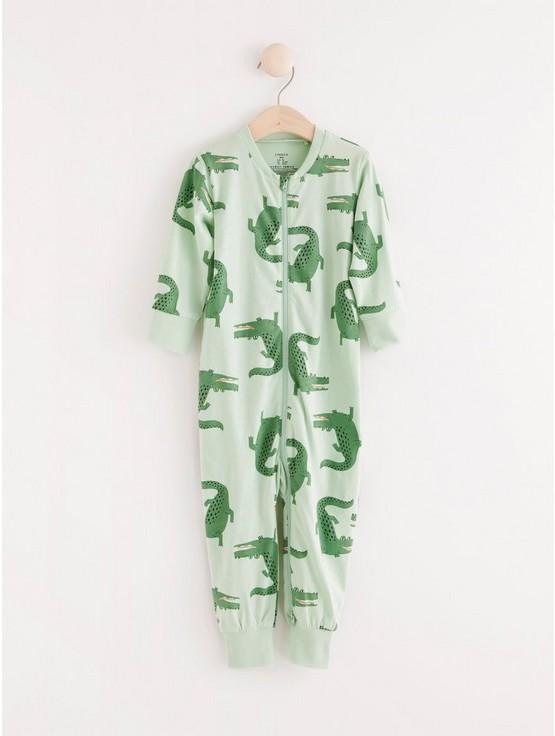Pyjamas med krokodiler
