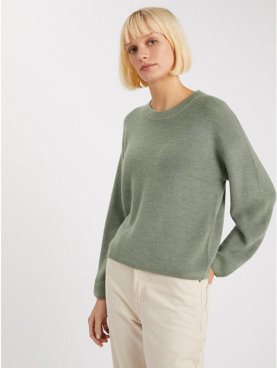 Finstickad tröja i merinoullblandning