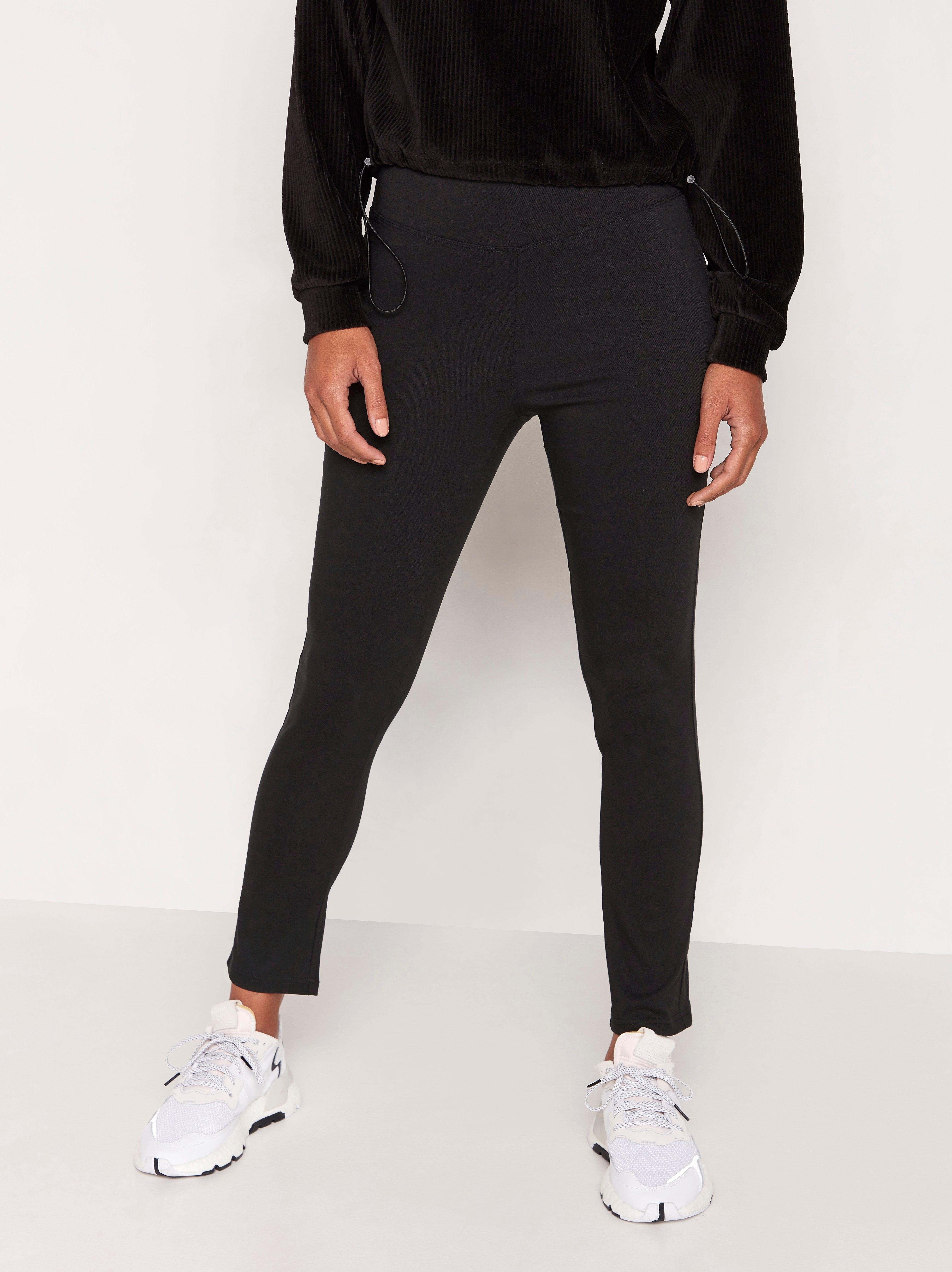 Kapeat, korkeavyötäröiset housut