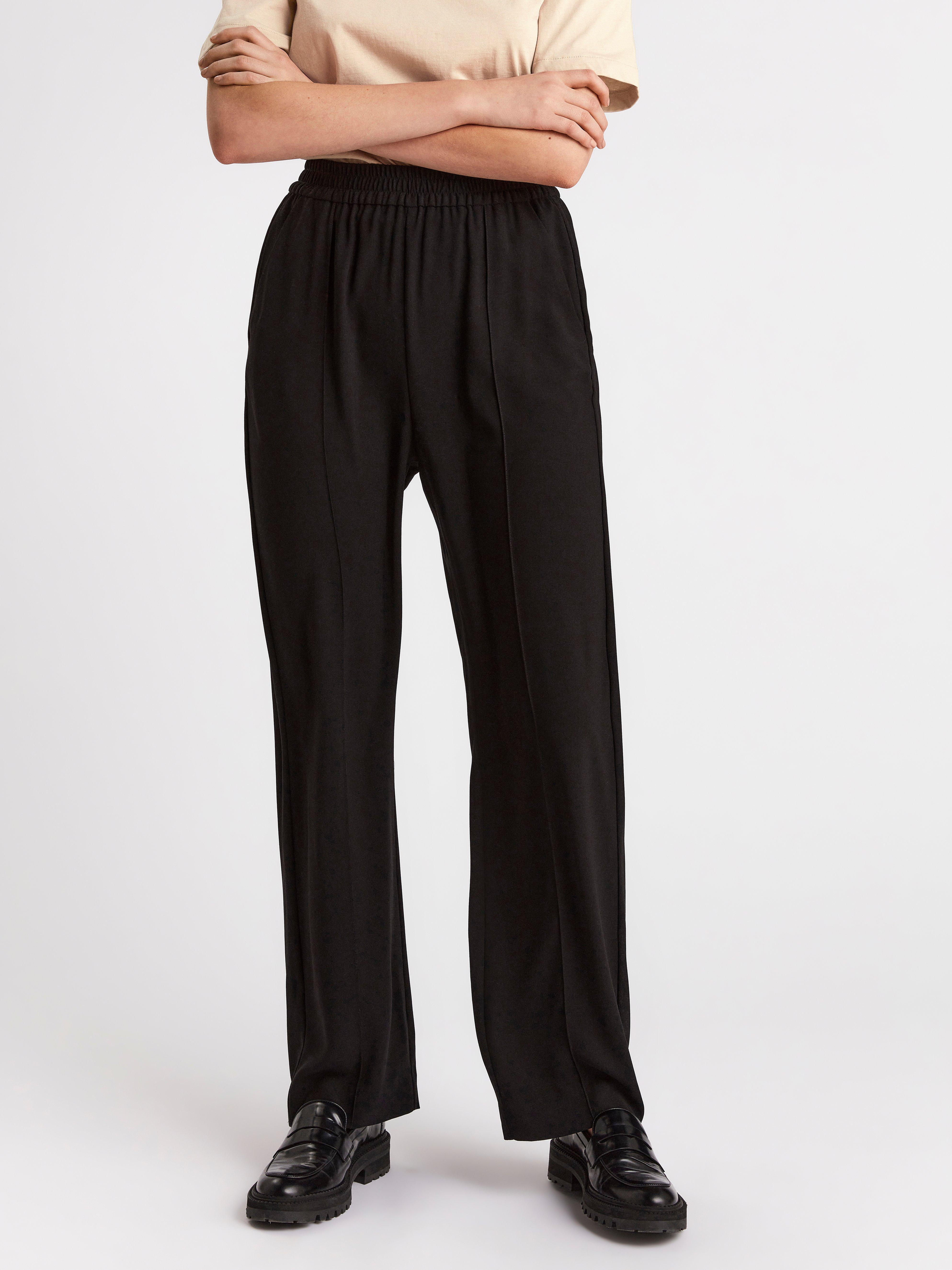 Suorat korkeavyötäröiset housut