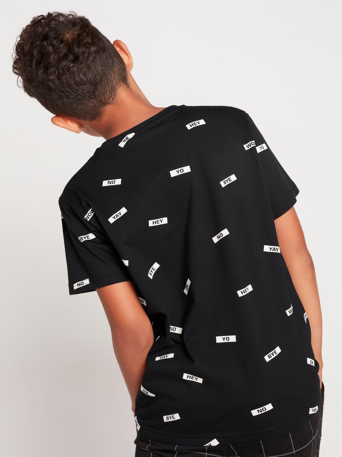 Kortärmad t shirt med tryck