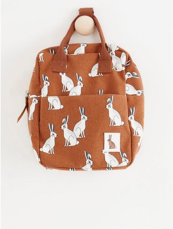 Canvasryggsäck med kaniner