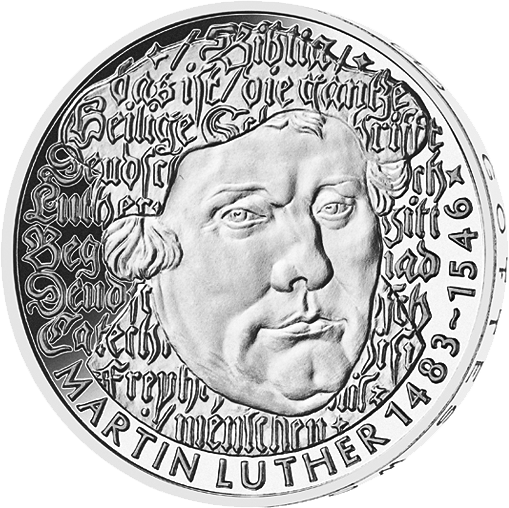 5 DM CU/NI Münze BRD Martin Luther 1983, st