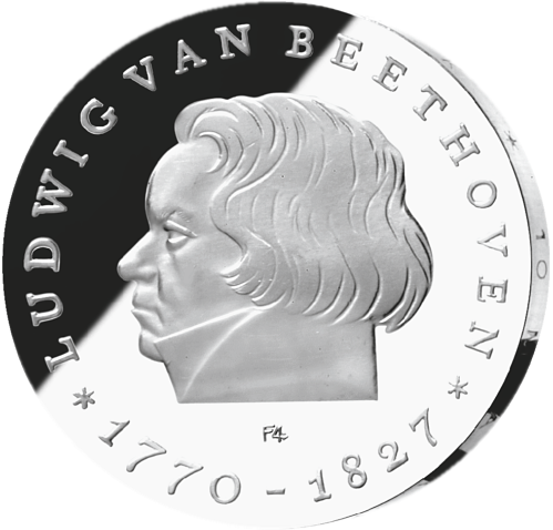 10 Mark Silber Münze DDR Beethoven, 1970
