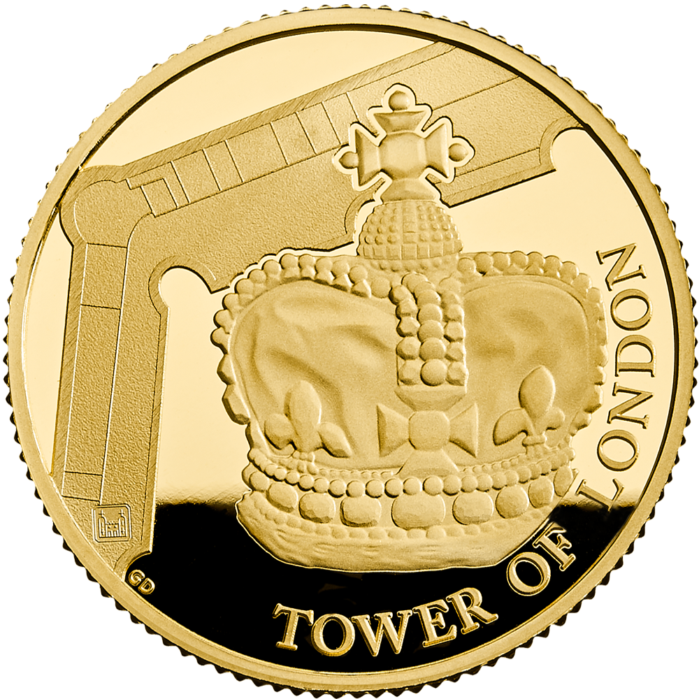25 GBP Goldmünze Großbritannien The Tower of London - Die Kronjuwelen 2019 PP