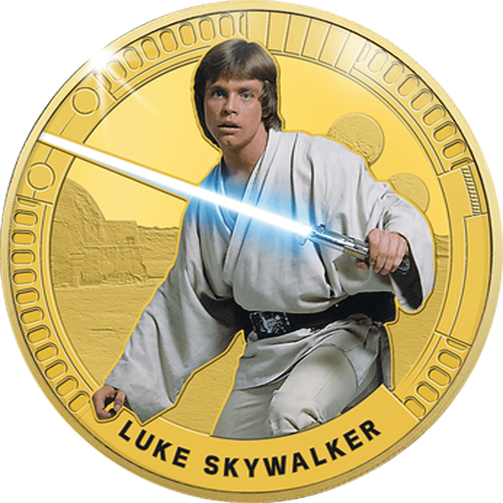 Star Wars - Gedenkprägung Luke Skywalker