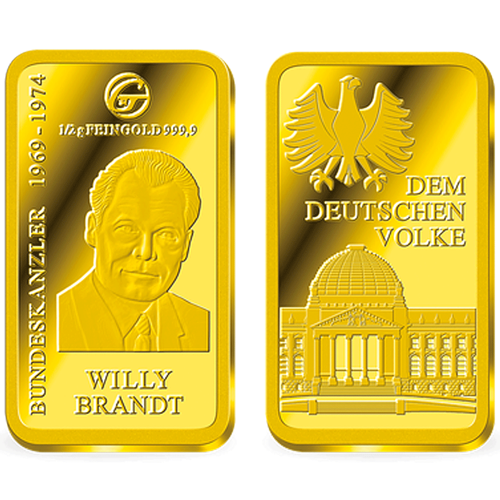 "Goldbarren ""Bundeskanzler Willy Brandt"" PP"