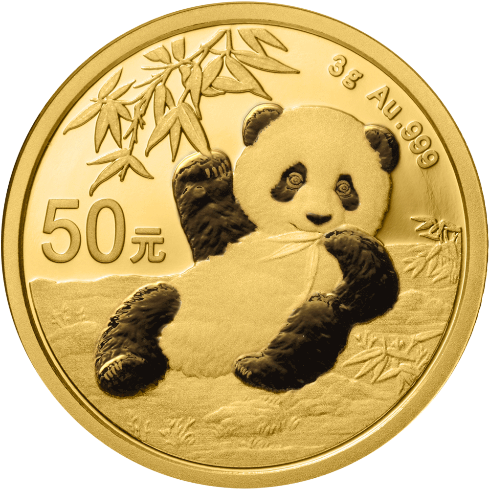 50 Yuan Goldmünze China Panda 2020 ST