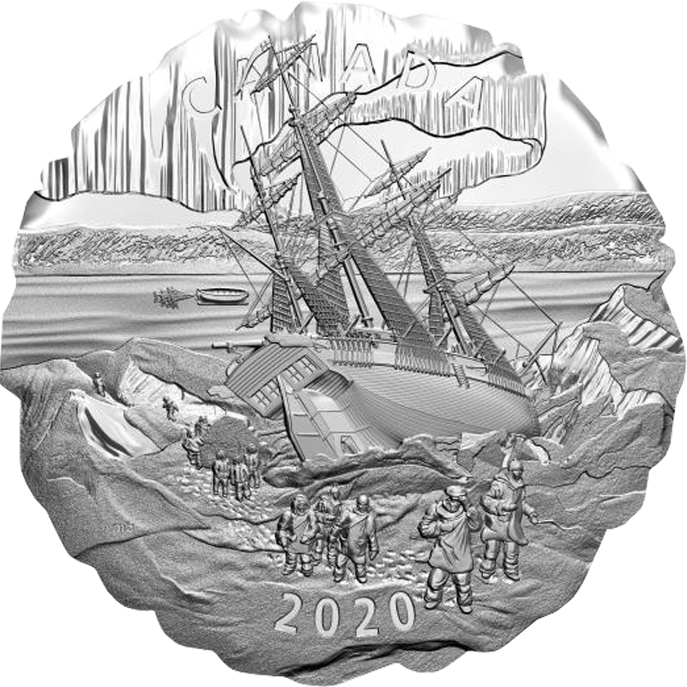 50 CAD Silbermünze 2020 Franklin's Lost Arctic Expedition