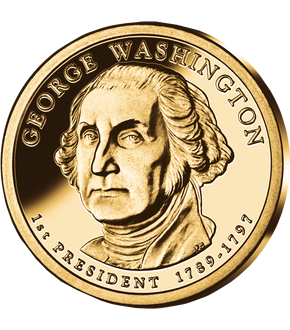 1. US-Präsidenten Dollar 'George Washington'