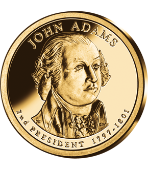 2. US-Präsidenten Dollar 'John Adams'