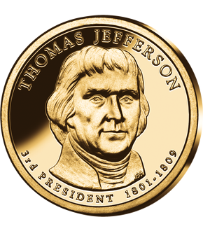 3. US-Präsidenten Dollar 'Thomas Jefferson'