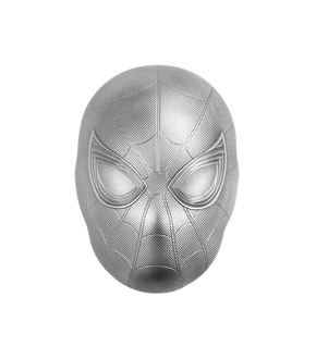 Spider-Man Mask – 2 Unzen Silber Münze Fiji 2019 in Maskenform!