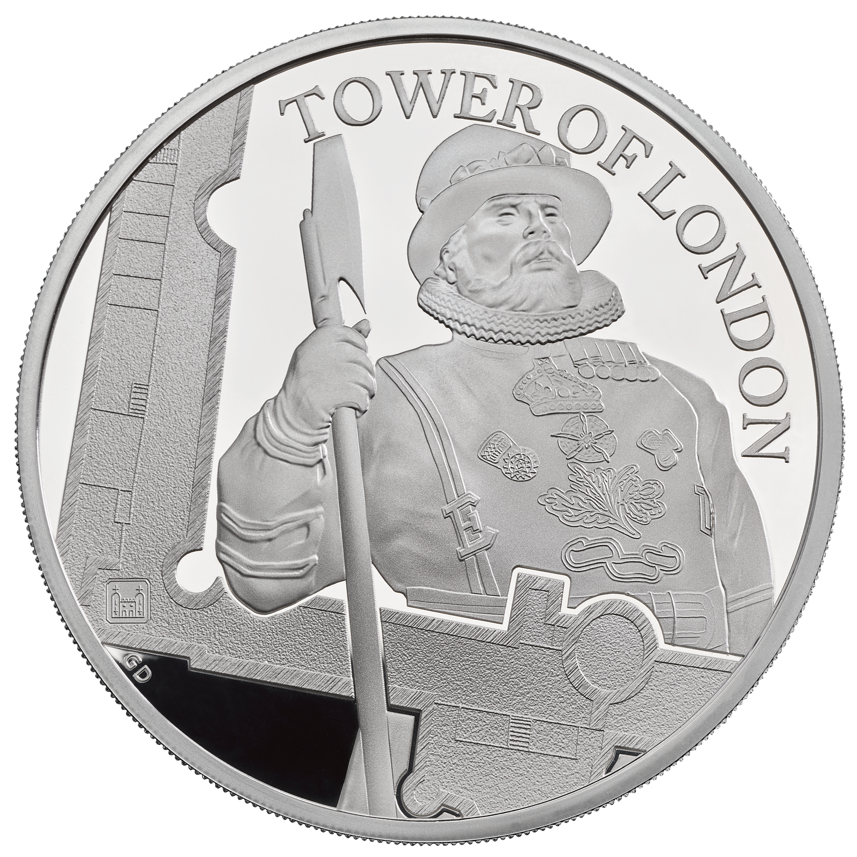 10 GBP Silbermünze Großbritannien The Tower of London - Die Yeoman Warders 5oz 2019 PP