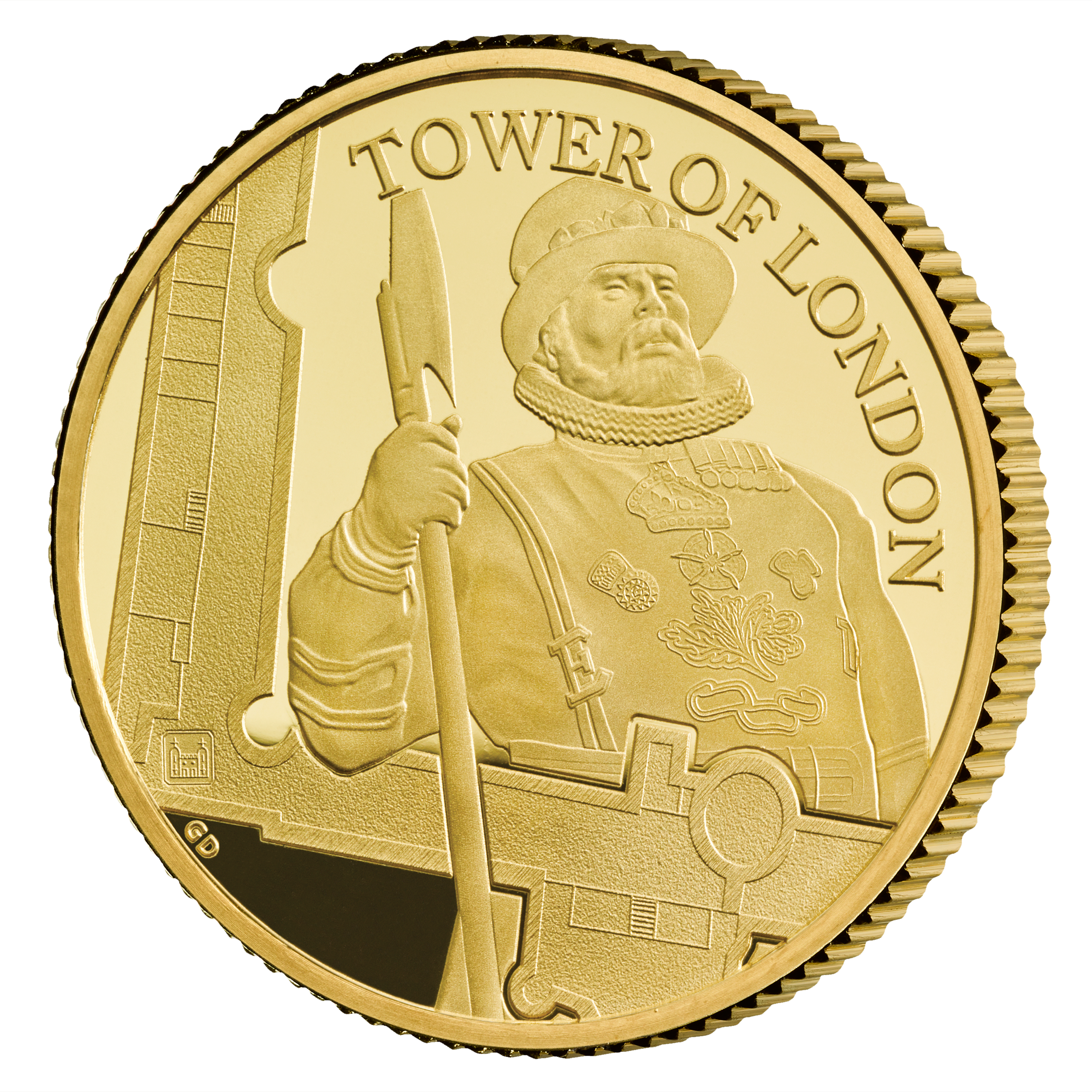 25 GBP Goldmünze Großbritannien The Tower of London - Die Yeoman Warders 1/4oz 2019 PP