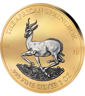 "Gabun 2019 Silver Investment Coin Prestige-Set ""Springbock"""