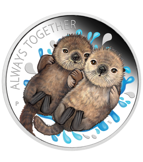 "Tuvalu 2020 Silber-Gedenkmünze ""Always Together - Otter"""