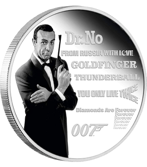 Silbermünze James Bond Legende – Sean Connery