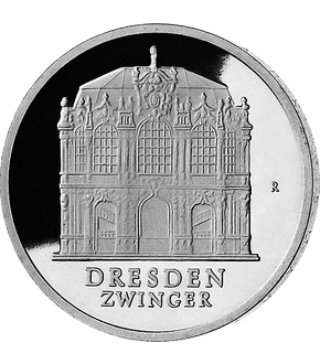 "5 Mark DDR Gedenkmünze ""Dresden – Wallpavillon""!"