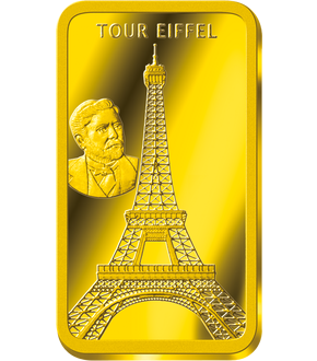 Lingot en or le plus pur «Tour Eiffel»