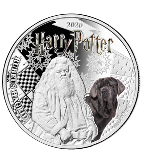 Monnaie officielle argentée Harry Potter « Rubeus Hagrid »