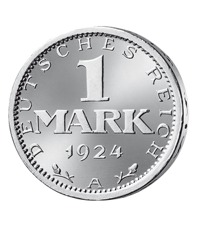 Weimarer Republik 1 Mark 1924-1925