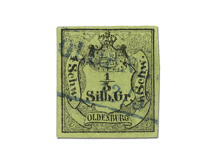 Erste Briefmarke Oldenburgs 1852