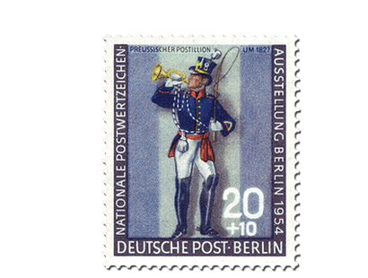 Briefmarke Berlin Nationale Briefmarkenausstellung 1954