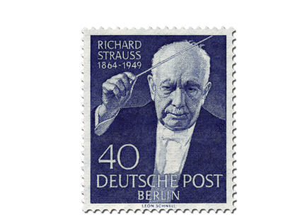 Briefmarke Berlin 5. Todestag Richard Strauss