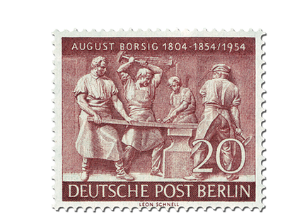 Briefmarke Berlin 100. Todestag von August Borsig