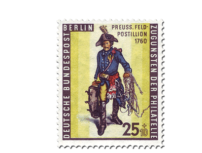 Briefmarke Berlin Tag der Briefmarke 1955