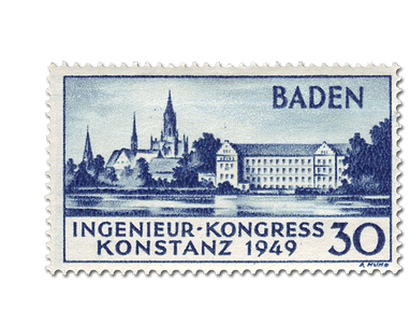 Briefmarke Baden - Internationaler Ingenieur-Kongress Konstanz