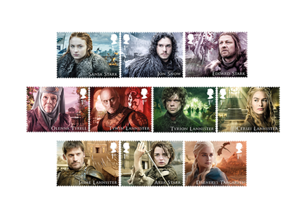 Briefmarken »Game of Thrones« – 10 Briefmarken einzeln