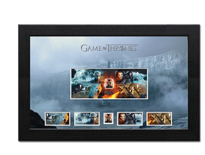 Briefmarken »Game of Thrones« im Bilderrahmen