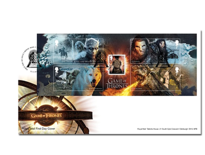 Briefmarkenblock »Game of Thrones« Kreaturen auf Ersttagsbrief