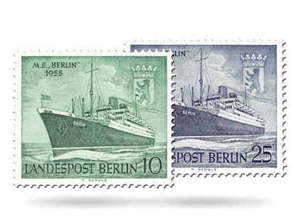 Briefmarken Berlin Stapellauf der MS Berlin