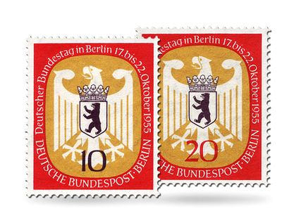 Briefmarken Berlin Deutscher Bundestag in Berlin