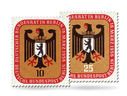 Briefmarken Berlin Bundesrat Deutschland in Berlin