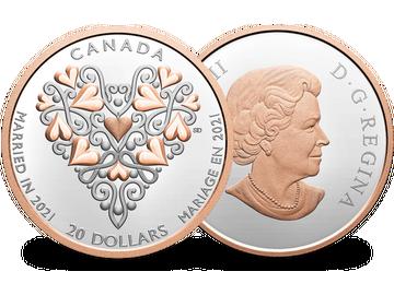 Einzigartige Silbermünze