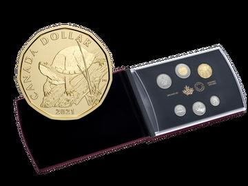 Kanadas Kursmünzensatz 2021 inklusive Gedenkmünze
