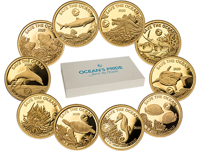 Spektakuläres Gold-Set ''Oceans Pride - Save the Ocean'' 2020