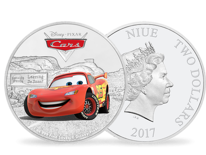Monnaie de 2 Dollars en Argent pur «Cars - Flash Mc Queen» Niue 2017